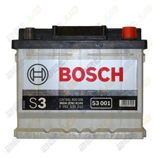 Bosch S3 41Ah R+ 360A (низкобазовый)