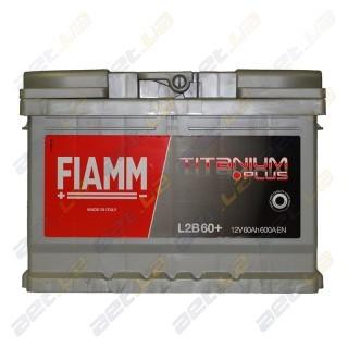 Fiamm Titanium Plus 60Ah R+ 600A (низкобазовый)