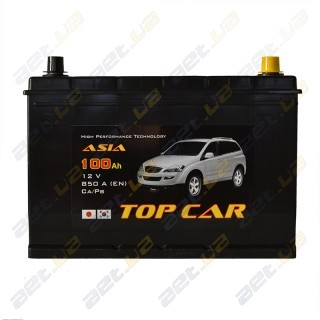 TOP CAR Asia 100Ah JR+ 850A