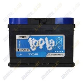 Topla TOP 62Ah R+ 600A (низкобазовый)
