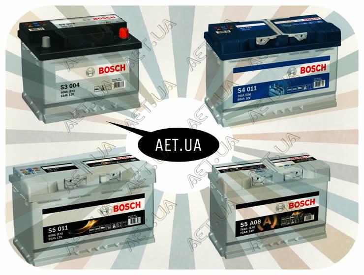 Автомобильные аккумуляторы Bosch: серии Бош S3, S4, S5, S5 AGM.