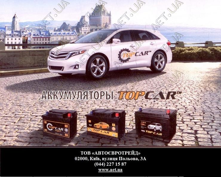 Аккумуляторы автомобильные Topcar Expert в Киеве