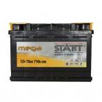 Mega Start 75Ah R+ 710A (низкобазовый)