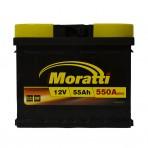 Moratti 55Ah L+ 550A (низкобазовый)