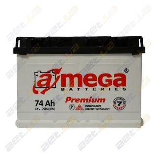Автомобильный аккумулятор Amega 6СТ-74Ah R+ 790A Premium M7, купить, цена, характеристики, фото