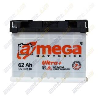 Автомобильный аккумулятор Amega 6СТ-62Ah L+ 610A Ultra+ M7+, купить, цена, характеристики, фото