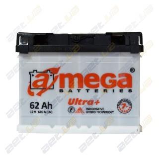 Автомобильный аккумулятор Amega 6СТ-62Ah R+ 610A Ultra+ M7+, купить, цена, характеристики, фото