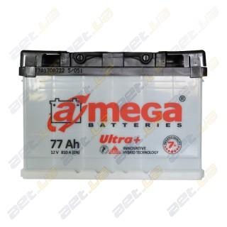 Автомобильный аккумулятор Amega 6СТ-77Ah R+ 810A Ultra+ M7+, купить, цена, характеристики, фото
