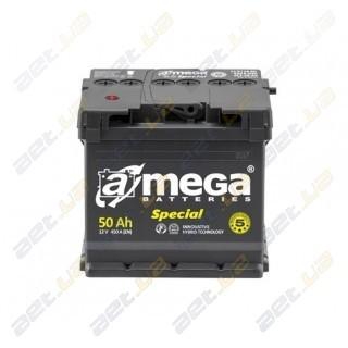 Автомобильный аккумулятор Amega 6СТ-50Ah L+ 450A Special M5, купить, цена, характеристики, фото