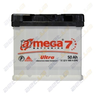 Автомобильный аккумулятор Amega 6СТ-50Ah L+ 480A Ultra M7, купить, цена, характеристики, фото