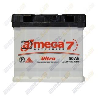 Автомобильный аккумулятор Amega 6СТ-50Ah R+ 480A Ultra M7, купить, цена, характеристики, фото