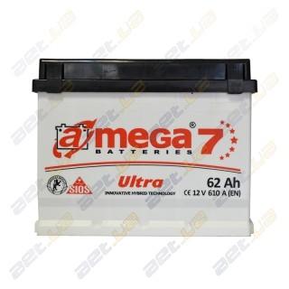 Автомобильный аккумулятор Amega 6СТ-62Ah R+ 610A Ultra M7, купить, цена, характеристики, фото