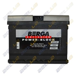 Berga Power 54Ah R+ 530A