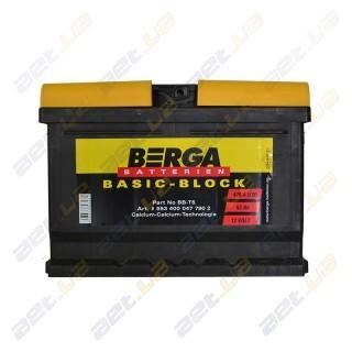 Berga Basic 53Ah R+ 470A (низкобазовый)