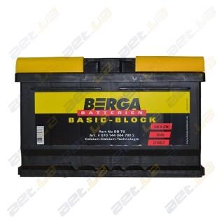 Berga Basic 70Ah R+ 640A (EN) (низкобазовый)