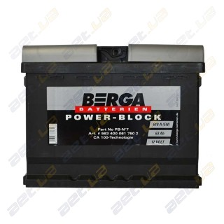 Berga Power 63Ah R+ 610A