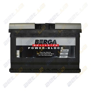 Berga Power 77Ah R+ 780A