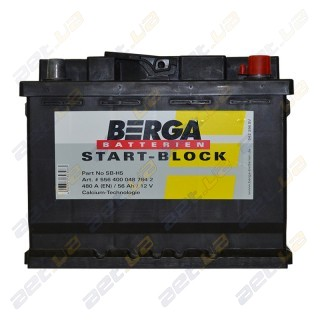 Berga Start 56Ah R+ 480A (EN)
