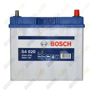 Bosch S4 45Ah JR+ 330A (тонкая клемма) (EN)