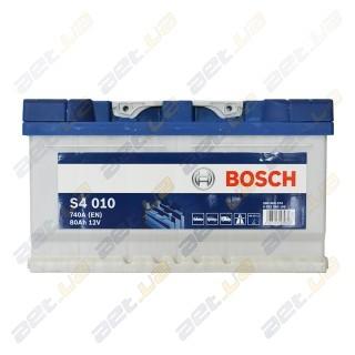 Bosch S4 80Ah R+ 740A (низкобазовый)