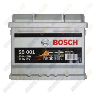Bosch S5 52Ah R+ 520A (низкобазовый)