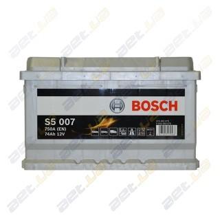 Bosch S5 74Ah R+ 750A (низкобазовый)