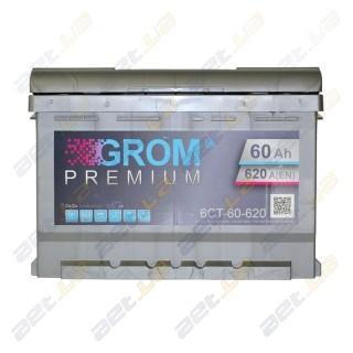 Grom 60Ah L+ 620A (низкобазовый)