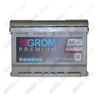 Grom 60Ah R+ 620A (низкобазовый)