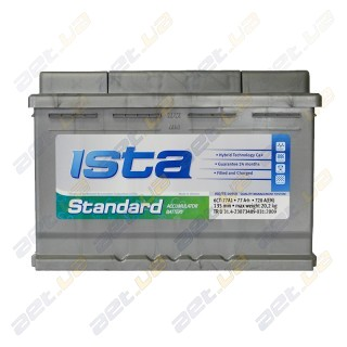 Ista Standard 77Ah R+ 720A