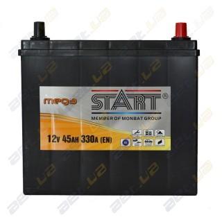 Mega Start 45Ah JR+ 330A (тонкая клемма)
