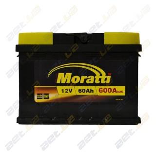 Moratti 60Ah L+ 600A (низкобазовый)