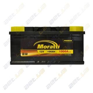 Moratti 100Ah R+ 1000A (низкобазовый)