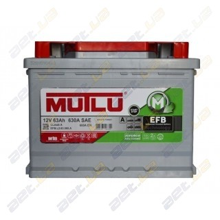 Mutlu EFB Start-Stop Technology 63Ah R+ 600A (EN)