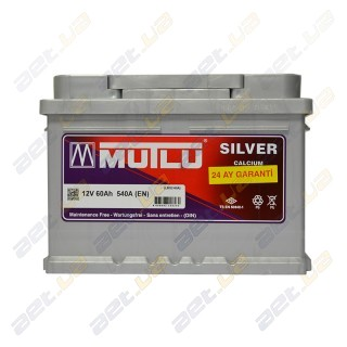 Mutlu Silver Calcium 60Ah R+ 540A (низкобазовый)