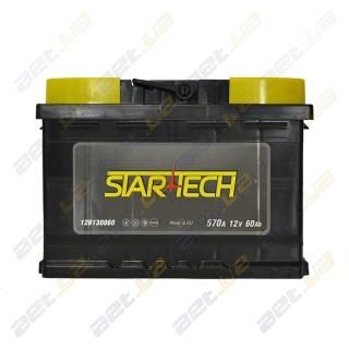 Startech 60Ah R+ 570A (низкобазовый)