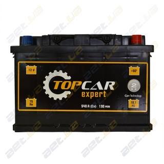 TOP CAR Expert 75Ah R+ 540A