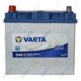 Автомобильный аккумулятор Varta 6СТ-60Ah JL+ 540A Blue Dynamic (D48), купить, цена, характеристики, фото