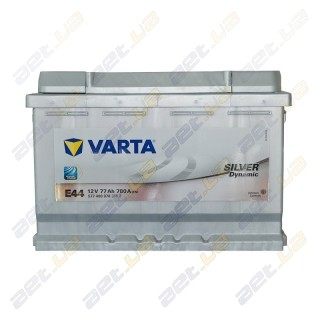 Автомобильный аккумулятор Varta 6СТ-77Ah R+ 780A Silver Dynamic (E44), купить, цена, характеристики, фото