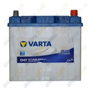 Автомобильный аккумулятор Varta 6СТ-60Ah JL+ 540A Blue Dynamic (D47), купить, цена, характеристики, фото