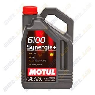 Моторное масло Motul 6100 Synergie + 5w30 – 4 л