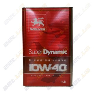 Моторное масло Wolver Super Dynamic 10W-40 4л