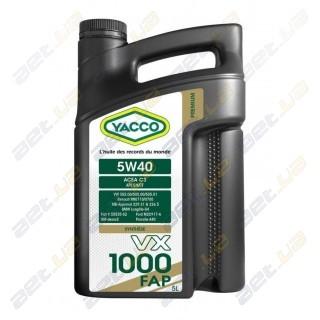 Моторное масло YACCO VX 1000 FAP 5W40 – 5 л