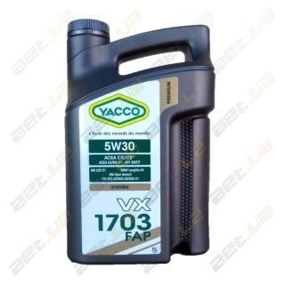 Моторное масло YACCO VX 1703 FAP 5W30 – 5 л