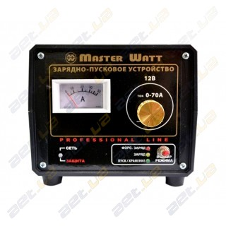 Пуско-зарядное устройство MasterWatt 12В 70А 3-х режимное