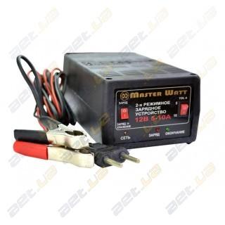 Автоматическое зарядное устройство MasterWatt 5-10А 12В 2-х режимное (заряд /заряд+хранение)