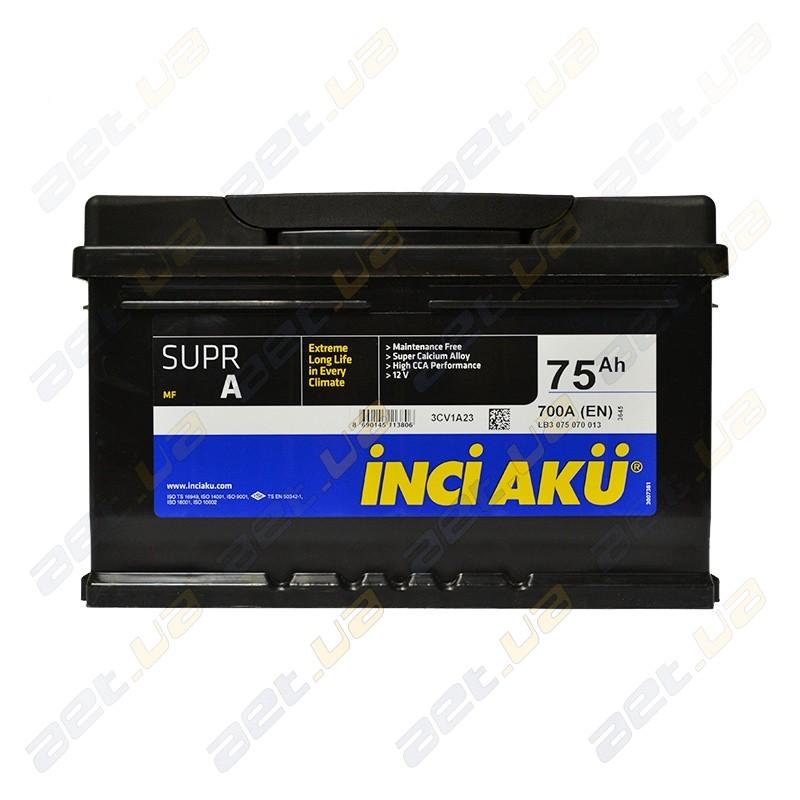 Автомобильный аккумулятор Inci Aku Supr A 75 Ач