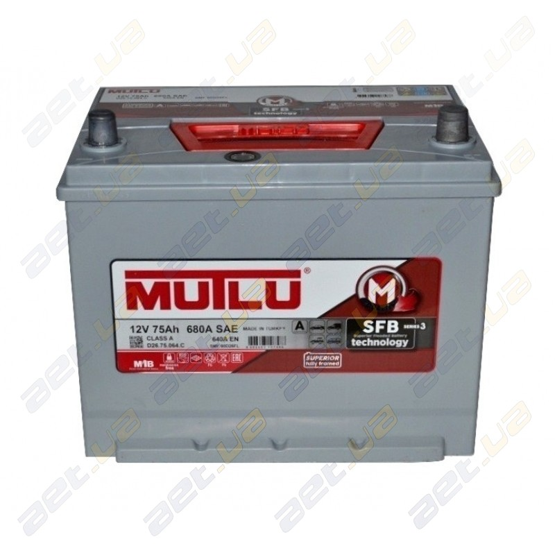 Аккумуляторная батарея Mutlu 75 Ah SFB
