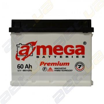Автомобильный аккумулятор A-Mega 6СТ-60Ah R+ 600A Premium M7