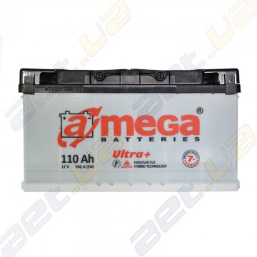 Автомобильный аккумулятор A-Mega ULTRA+ 110Ah R+ 960A