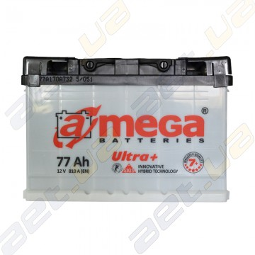 Автомобильный аккумулятор A-Mega ULTRA+ 77Ah R+ 810A